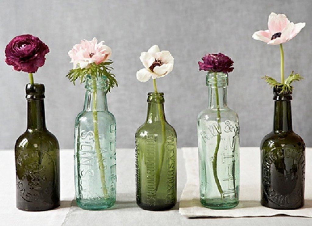 12 formas creativas de reciclar botellas de vidrio for Reciclar botellas de vidrio