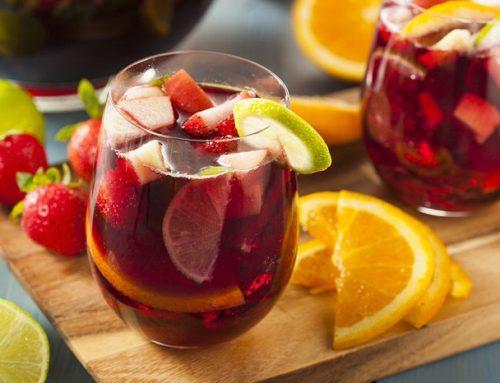 Refrescante sangría sin alcohol
