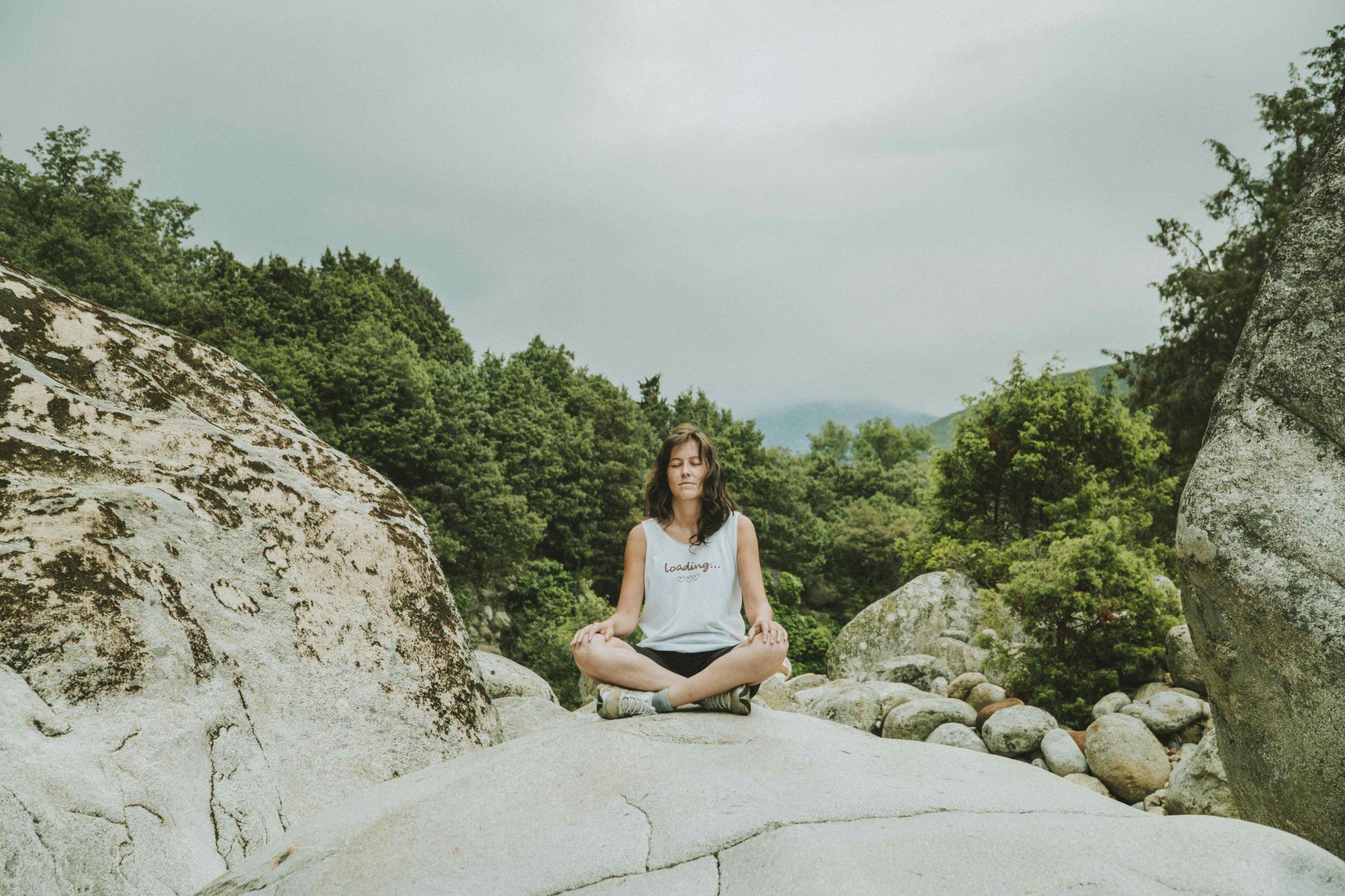 Medita en la naturaleza